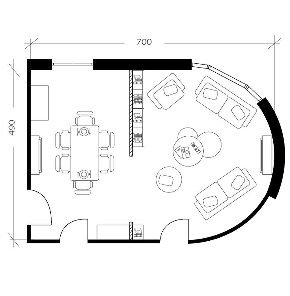 Salon salle à manger, plan après