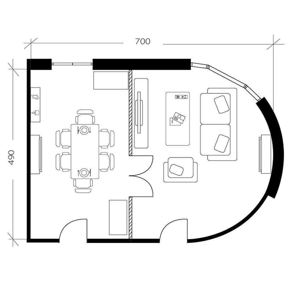 Salon salle à manger, plan avant