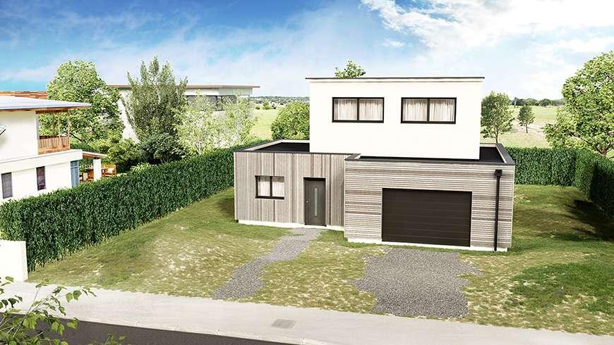 Création de clôture et aménagement extérieur, vue avant