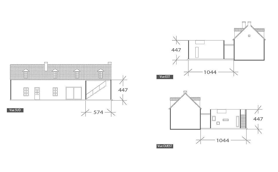 Extension moderne, plan