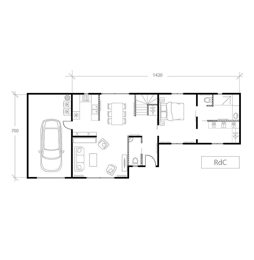 Maison pour bien vieillir chez soi, plan après