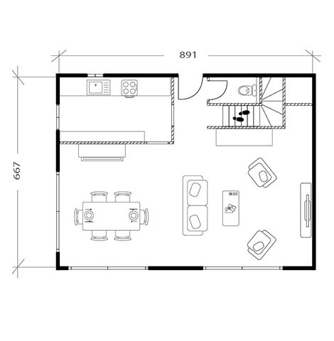 Salon moderne, plan avant