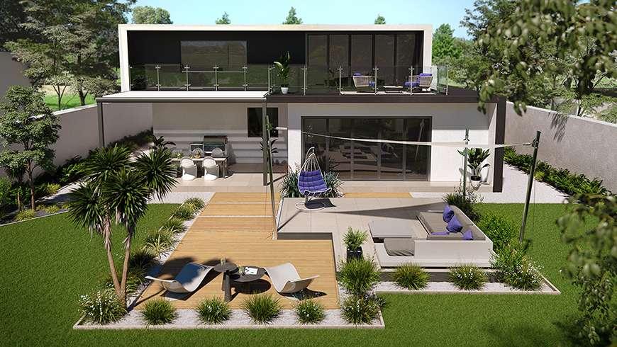 Comment Amenager L Exterieur D Une Maison D Architecte Design Une Terrasse Design La Maison Saint Gobain