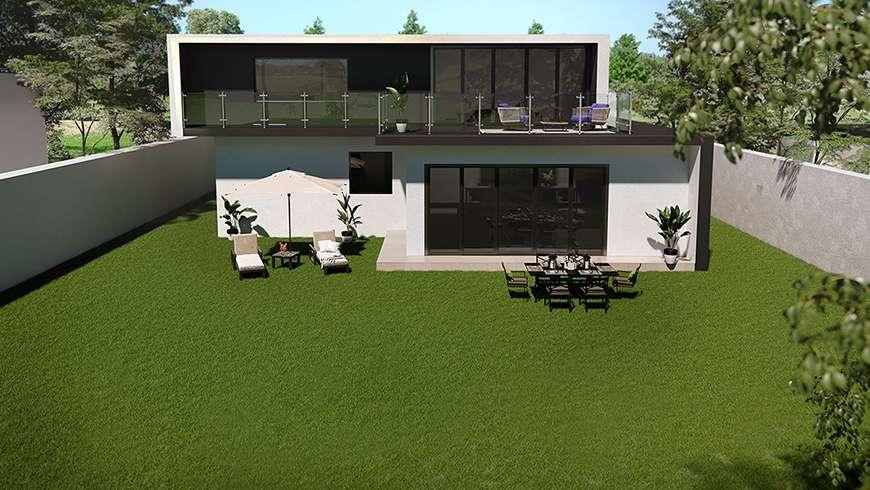 Terrasse design, vue avant