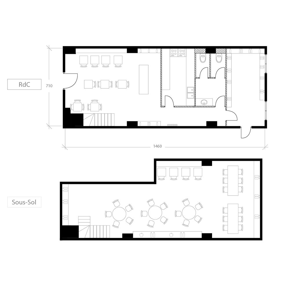 Transformer un local commercial en habitation, plan avant