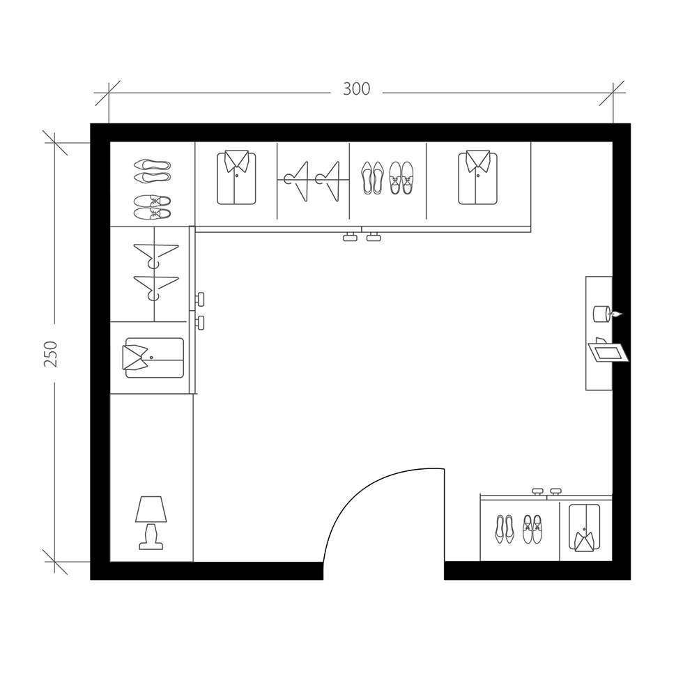 Petite chambre, plan avant