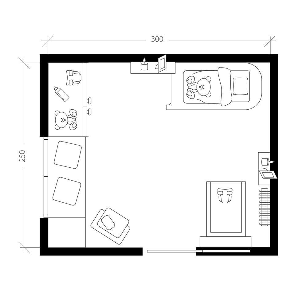Petite chambre, plan après
