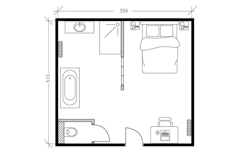 Suite parentale industrielle, plan