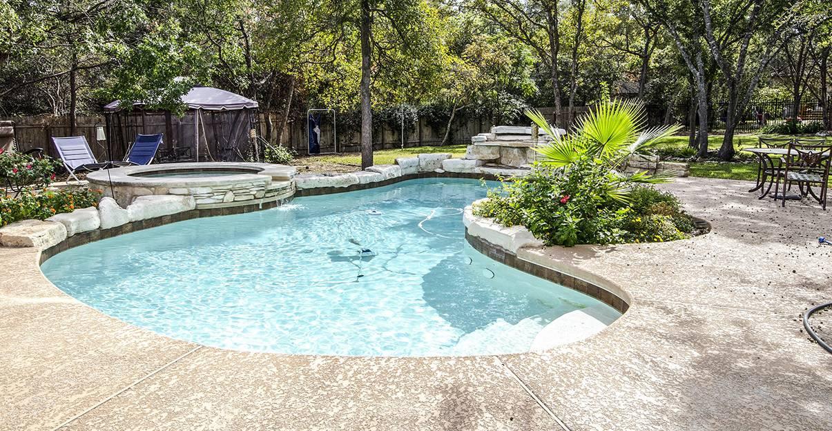 La piscine maçonnée