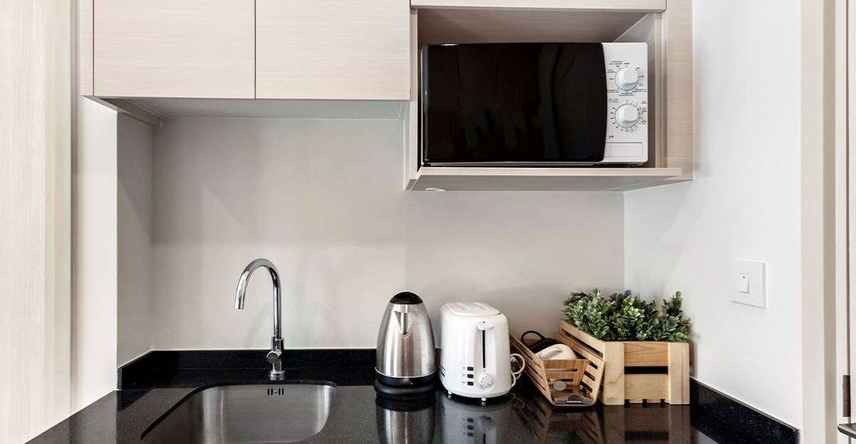 Kitchenette : exploiter l'espace en hauteur