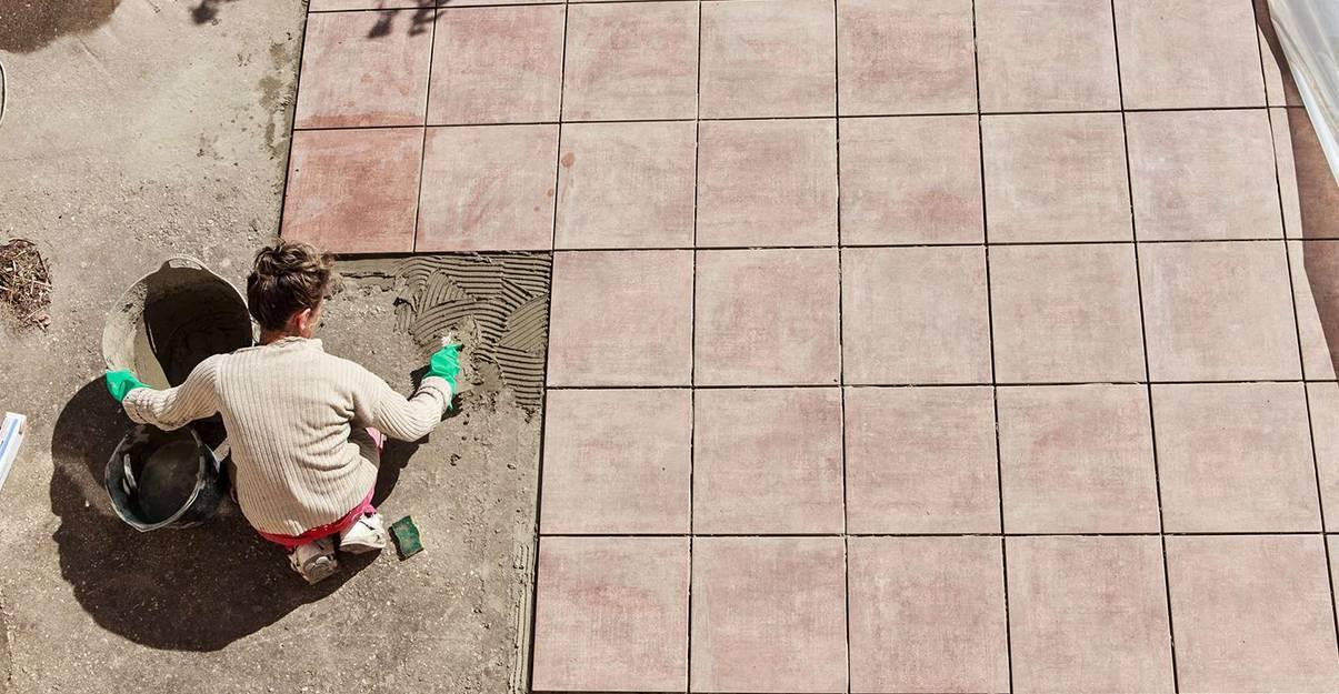 carrelage de terrasse : la pose