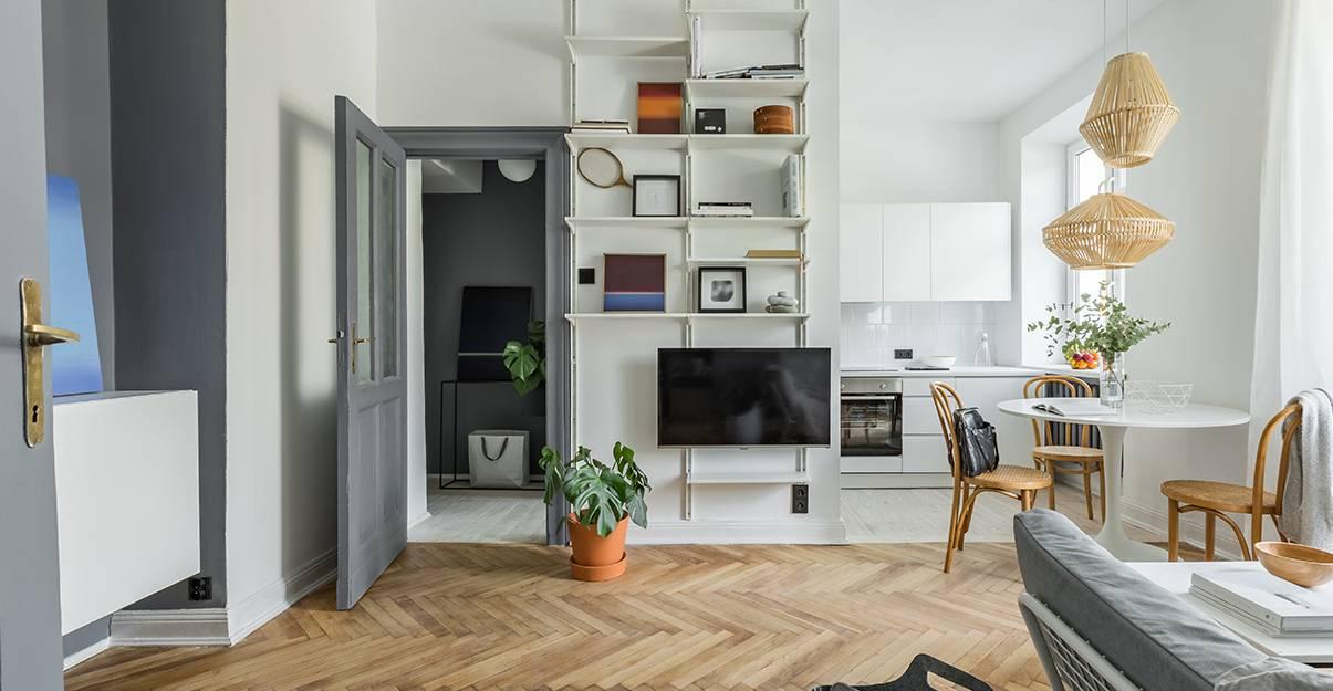 Aménager un petit appartement : délimiter les pièces à l'aide de différents revêtements