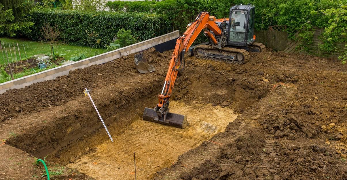 Etape-clé de la construction: le terrassement