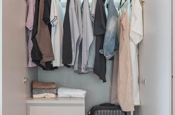aménager son dressing dans un placard