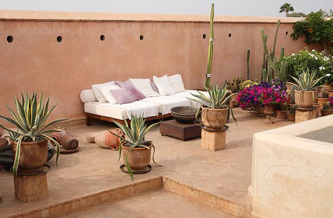 Un toit terrasse d'inspiration orientale...