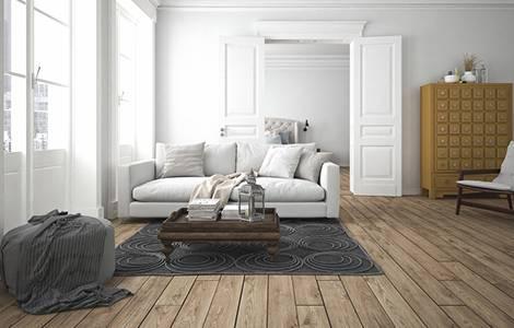 Sol intérieur : le parquet massif pour salon, salle à manger et chambre