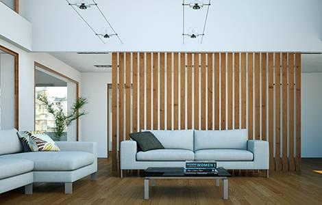Séparer une pièce : une cloison décorative pour une séparation légère