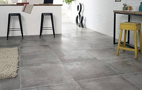 Revêtement de sol de cuisine : le grès cérame