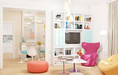 Rénovation d'appartement haussmannien: twister le style