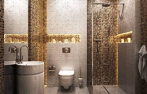 Une douche à l'italienne tout en mosaïque, so chic!