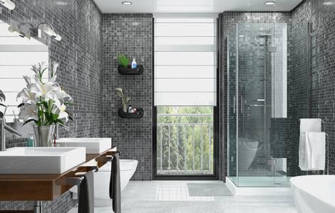 Aménagement intérieur : dimensions  salle de bain et toilettes