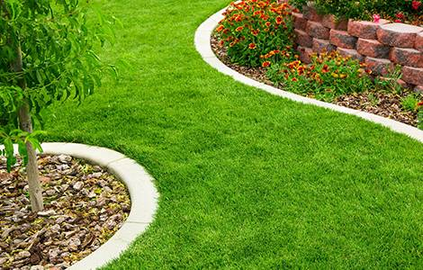 La bordure de jardin en pierre