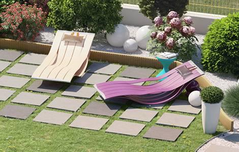 La bordure de jardin en plastique