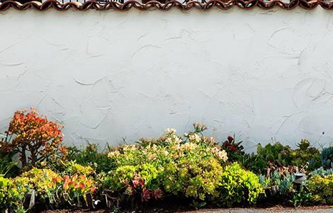 Mur de clôture en parpaing