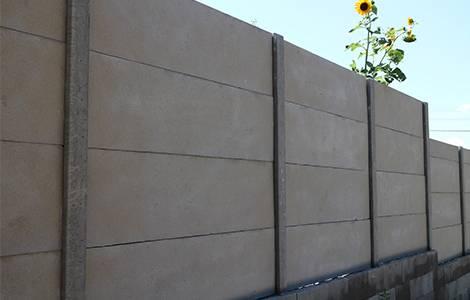Brise vue : le mur en béton