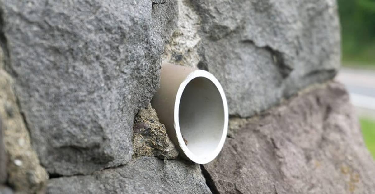 La barbacane, pour drainer efficacement les murs de soutènement