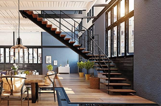Choisir son escalier : bois et métal