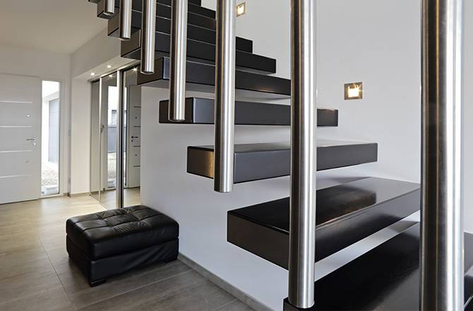 Choisir son escalier : le design du béton