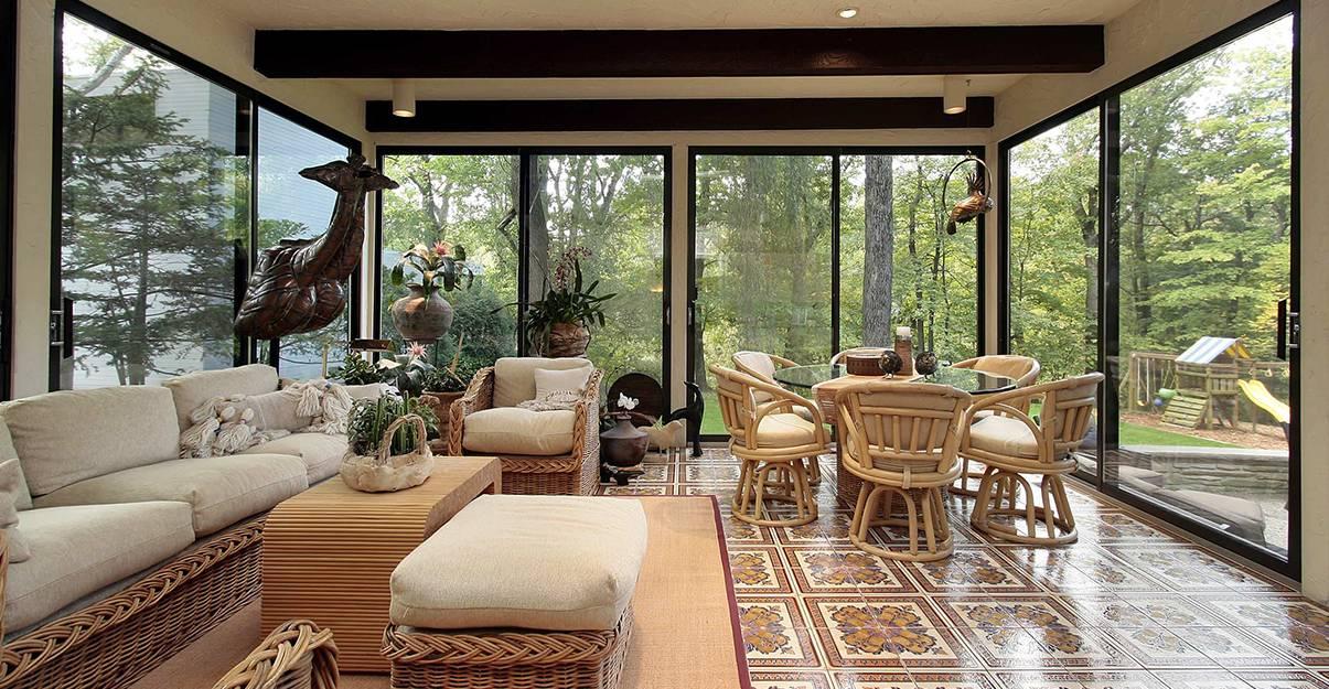 Un salon dans une extension