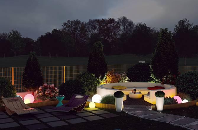 Aménagement d'un jardin et meubles en PVC