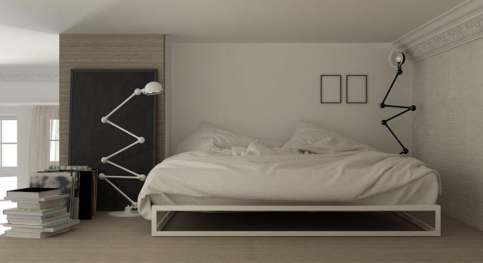 Chambre mezzanine - La chambre gain de place