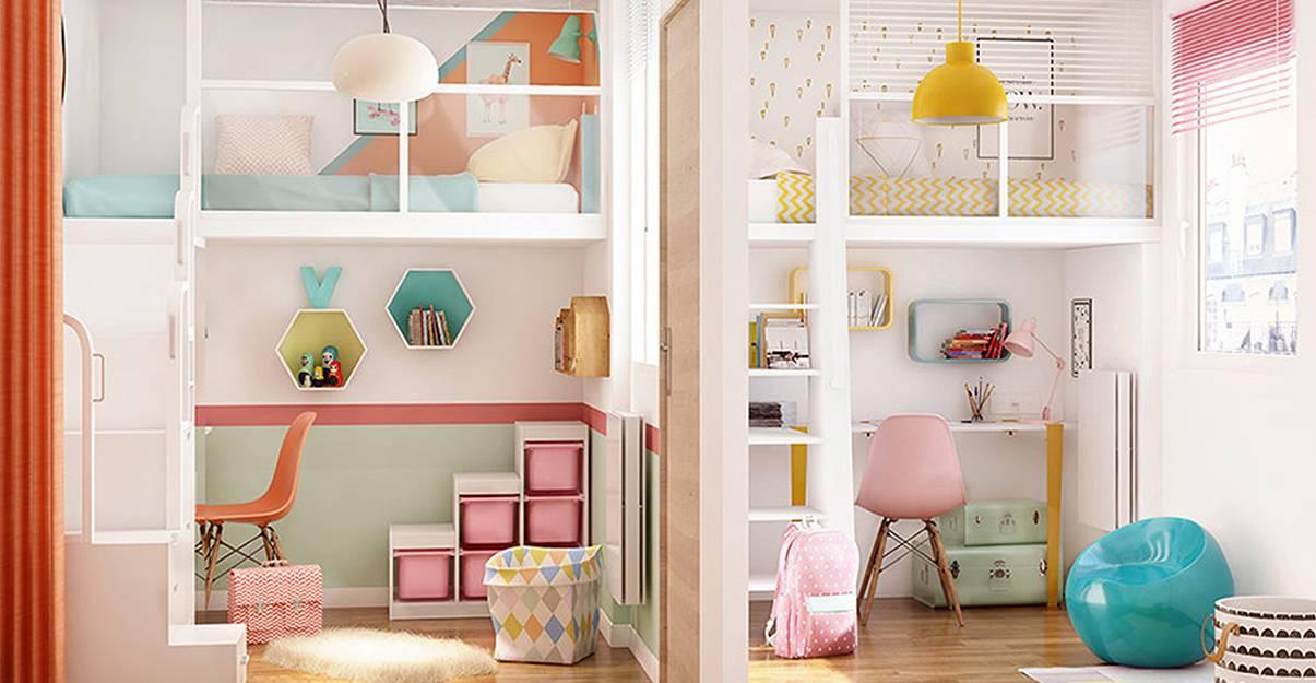 La mezzanine, idéale pour une chambre avec deux espaces bien définis