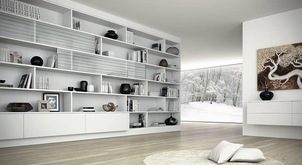 une bibliothèque sur-mesure dans le salon