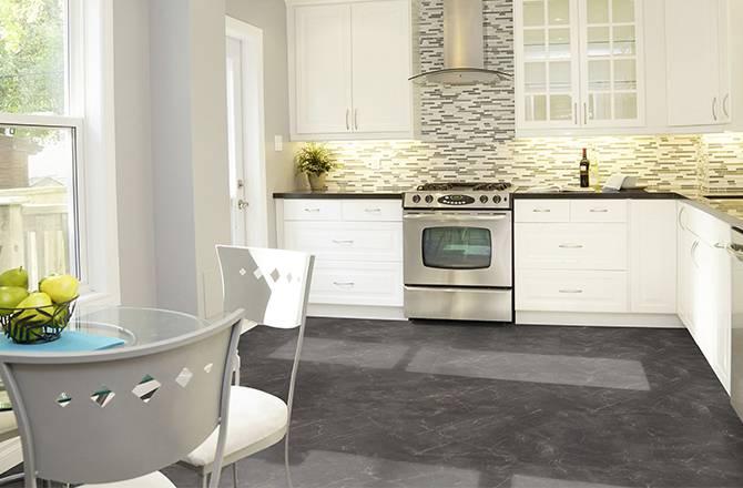 Choisir un sol en PVC : imitation marbre