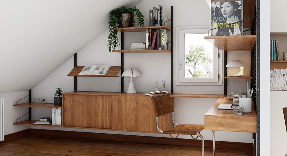 Aménager un bureau sous les combles