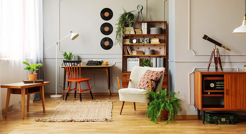 Décoration vintage d'appartement