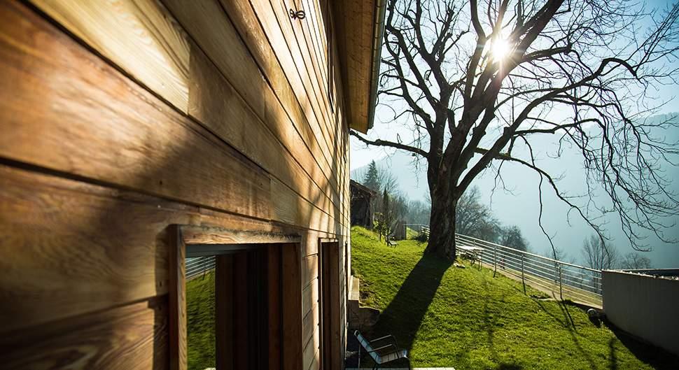 Maison en bois rénovée