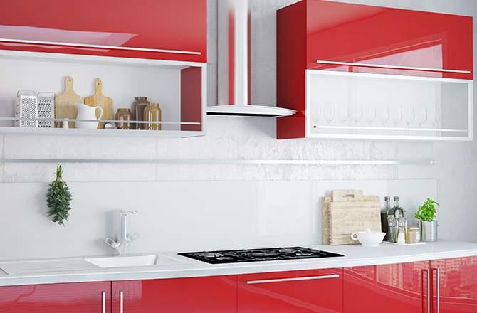 cuisine rouge et blanche