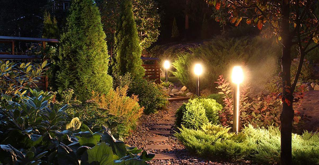 Illuminer un jardin: les potelets