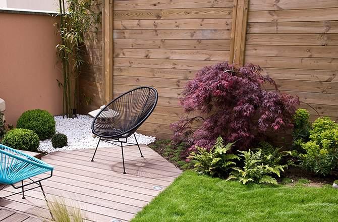 Aménagement d'une terrasse :  la palissade