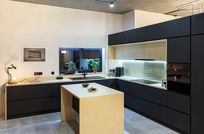 La configuration d'une cuisine loft