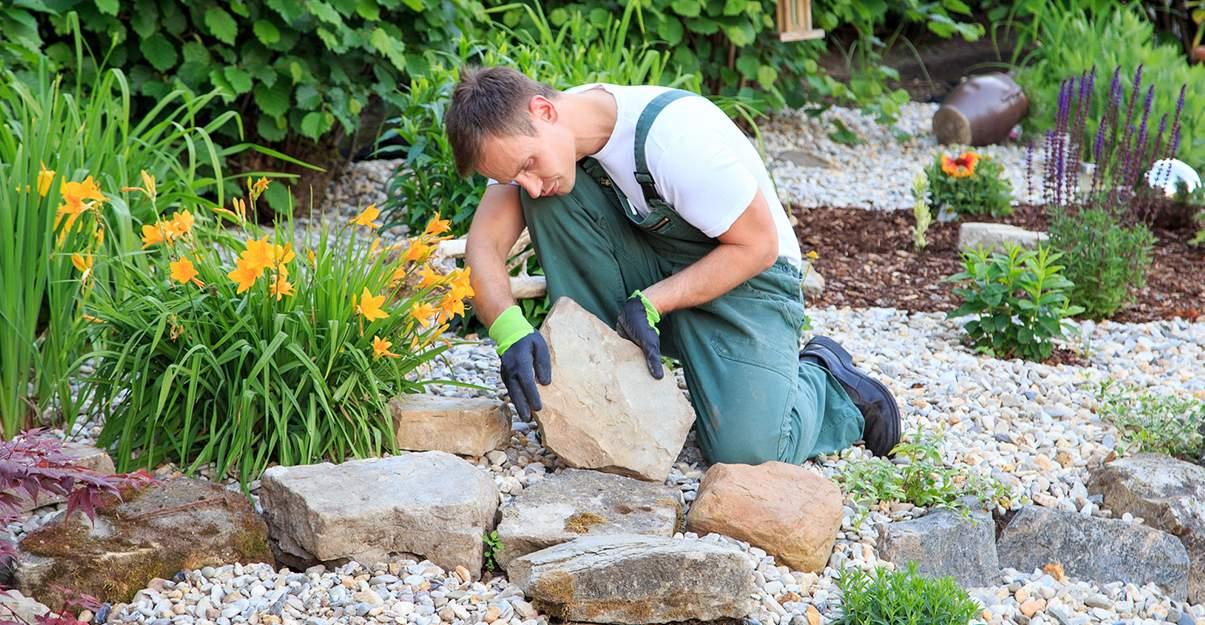 paysagiste et montage d'allée de jardin