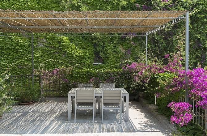Aménagement d'une terrasse :  la treille