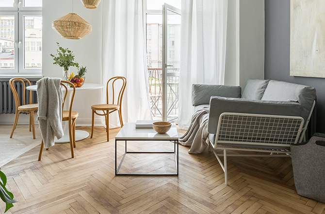 Décoration d'appartement : salon scandinave