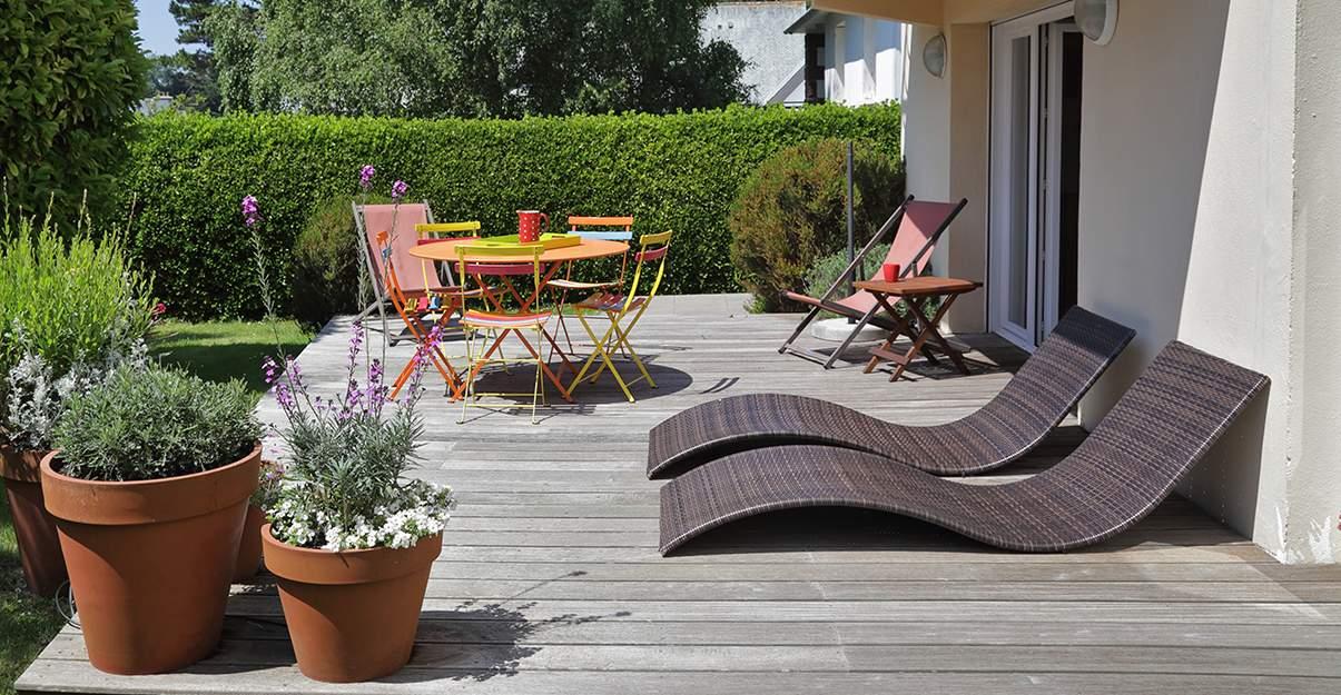 Aménagement d'une terrasse : les espaces