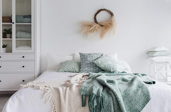 Décoration d'appartement : chambre scandinave